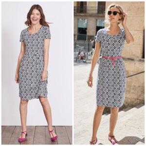 Boden | Emmeline Heart Jersey Knit Dress (sz 6)